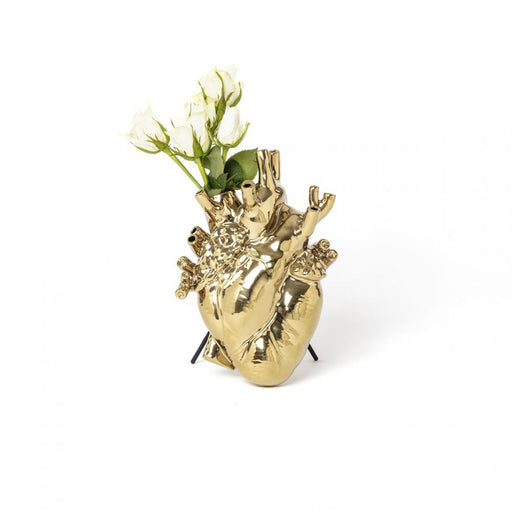 Love In Bloom Vase <br> Gold