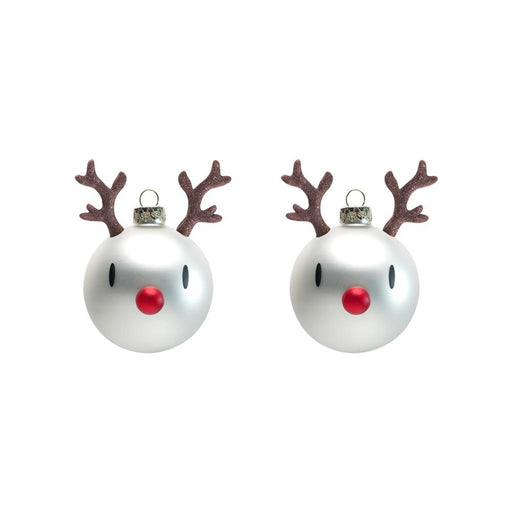 Reindeer <br> Ornament White