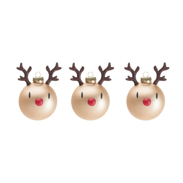 Mini Reindeer <br> Ornament Brown