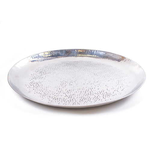 SERVING TRAY <br> SILVER <br> Ø 62.5 CM