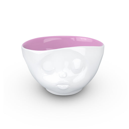 WHITE / BERRY PINK BOWL <br> KISSING <br> 500 ML