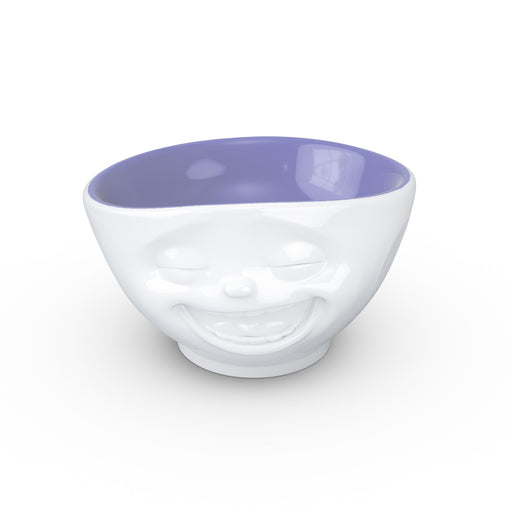 WHITE / LAVENDER BOWL <br> LAUGHING <br> 500 ML