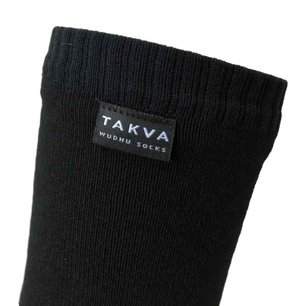 WUDHU SOCKS <br> X-LARGE <br> BLACK