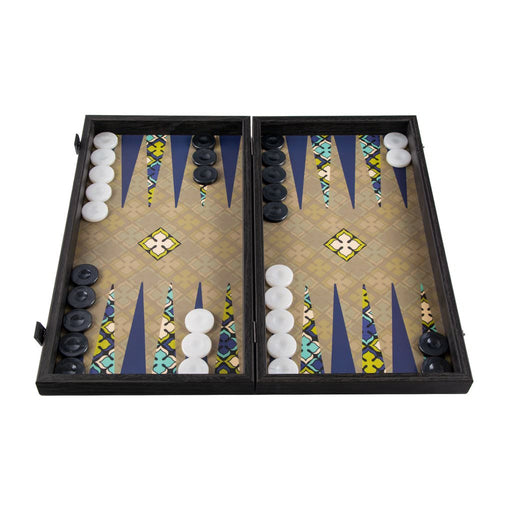 GEOMETRICAL FLORAL PATTERN<br>BACKGAMMON