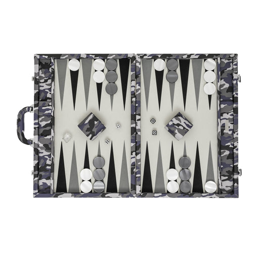 Camouflage  <br> Backgammon Set with Handle <br>  (L 52 x W 36) cm