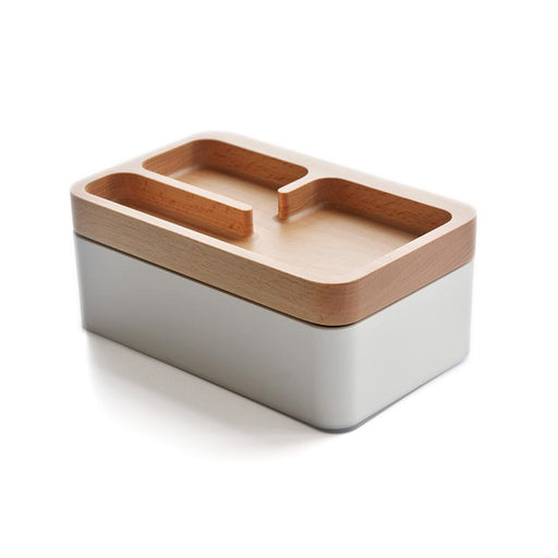 Revov Magnetic <br> Rotating Tray Box <br> White