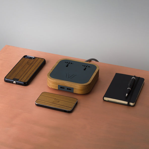 WOODIE WIRELESS POWERBANK <br>TEAK