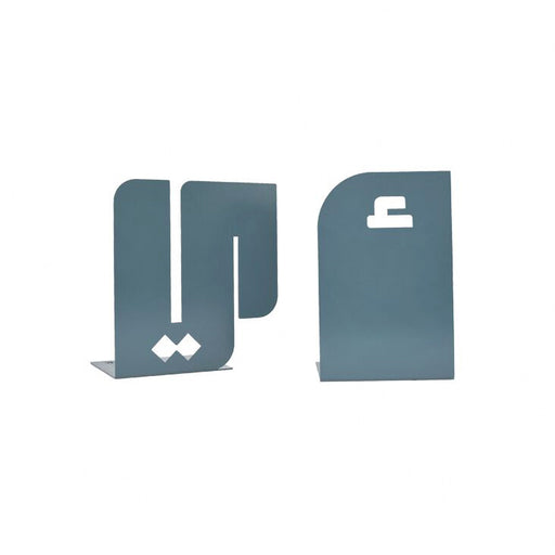 ALEF YA'A BOOKENDS <br> GREY BLUE