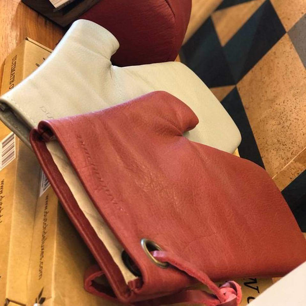 LEATHER OVEN GLOVES <br>Dusty Pink