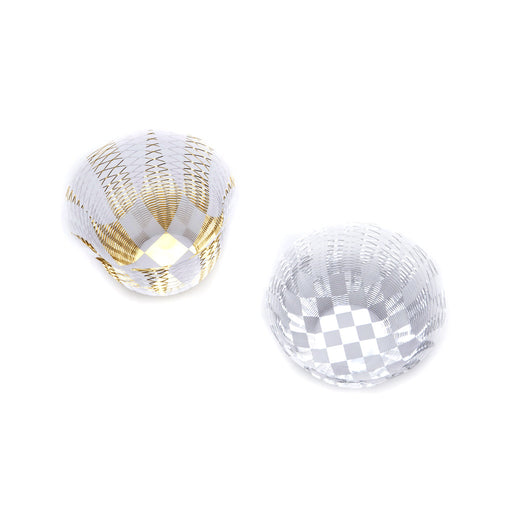 REVERSIBLE AIR VASE <br> GOLD & SILVER <br> SET OF 2