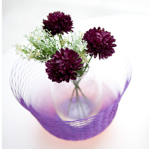 REVERSIBLE AIR VASE <br> ORANGE / VIOLET <br> SET OF 3
