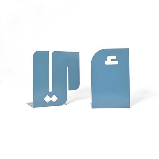 ALEF YA'A BOOKENDS <br> PASTEL BLUE