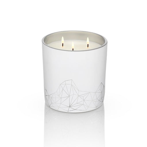 WHITE CANDLE <br> FRANKINCENSE & MANDARIN LARGE