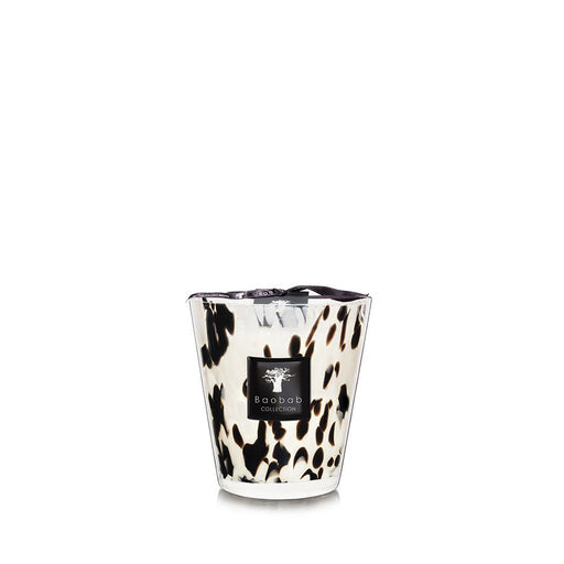 PEARLS BLACK CANDLE <br> ROSE AND GINGER <br> (14.5 x 16) CM