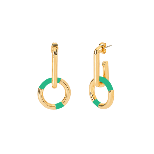 PRADO EARRINGS <br>OPAL GREEN