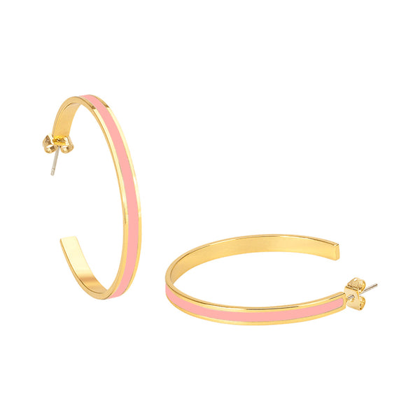 Bangle Hoop Earrings <br> Powder Pink