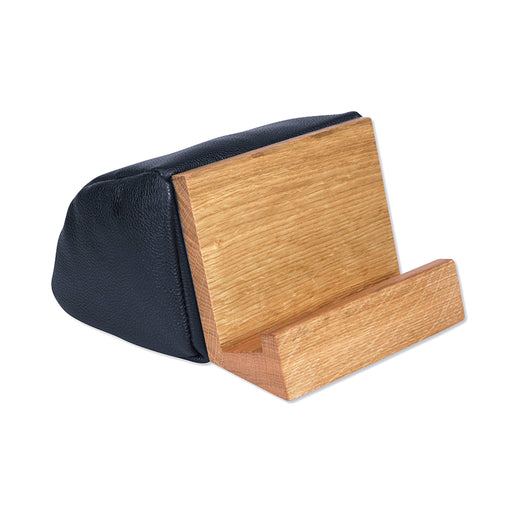 BOOK & TABLET STAND <br>BLACK OAK