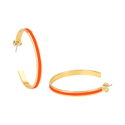 BANGLE EARRINGS <br> TANGERINE
