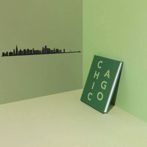 Chicago Skyline <br> Black <br> 50 cm