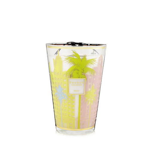 CITIES MIAMI CANDLE <br> CYPRESS, CEDAR, MUSK <br> LIMITED EDITION <br> (23 x 35) CM