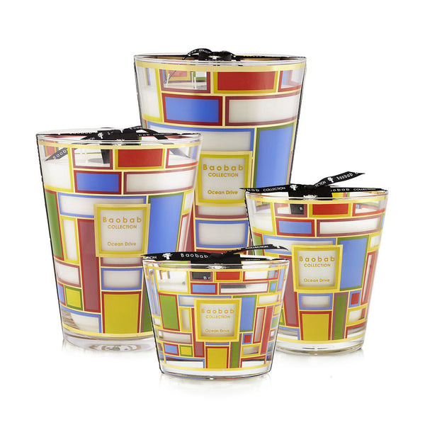CITIES OCEAN DRIVE CANDLE <br> MANDARIN AND CEDAR <br> LIMITED EDITION <br> (14.5 x 16) CM