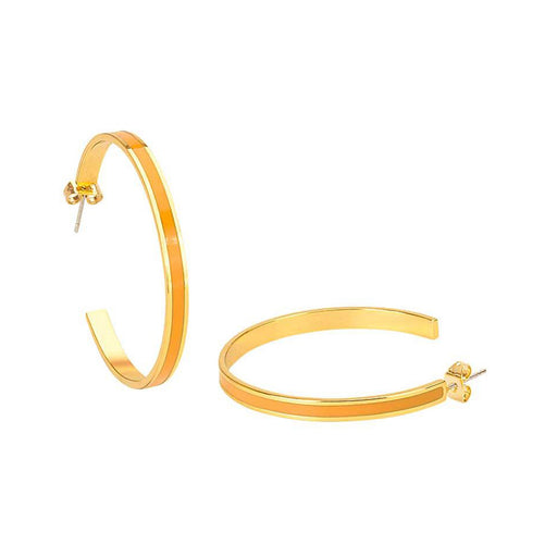 BANGLE EARRINGS<br> SAFFRON YELLOW