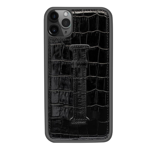 CROCO BLACK <br> IPHONE 11 PRO MAX CASE <br> WITH FINGER HOLDER