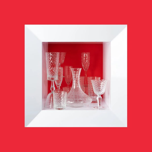 CLEAR WINE GLASS <br> SET OF 4