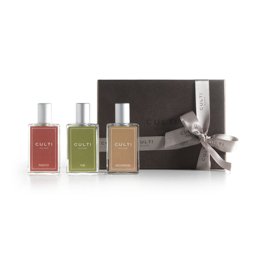 GIFT BOX ROOM SPRAY<br> FUOCO, MOUNTAIN, THÉ