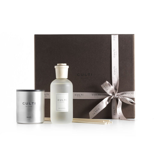 GIFT BOX STILE<br> MOUNTAIN DIFFUSER AND EBANO CANDLE