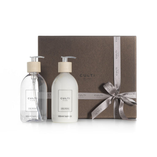 GIFT BOX WELCOME<br> HAND SOAP & CREAM<br> ODE ROSAE