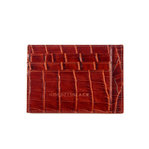 CARD HOLDER BILL<br> CROCO BROWN
