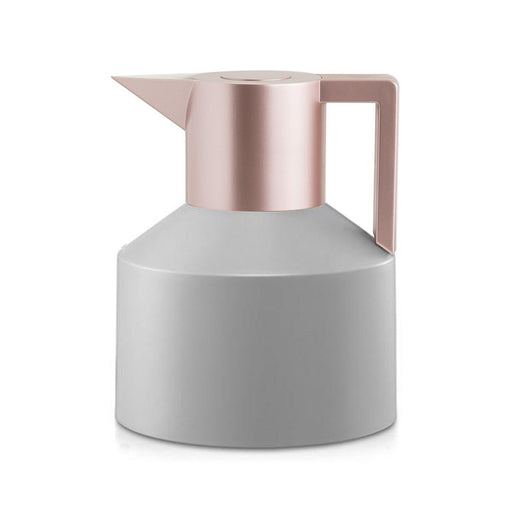 GEO VACUUM JUG <br> GREY / METALLIC ROSE GOLD <br> 1 LITER