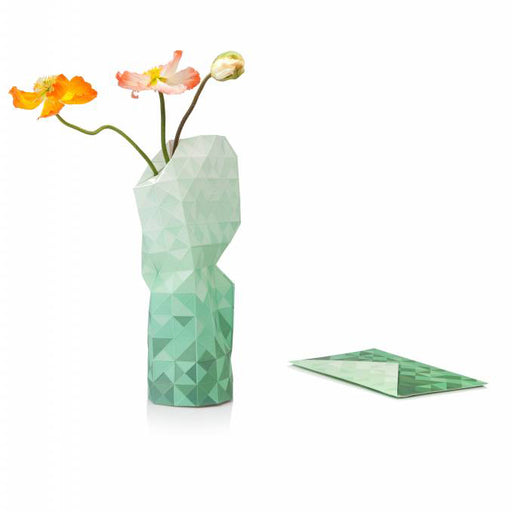 PAPER VASE COVER <br> GREEN <br> (24.5 x 21 x 42) CM