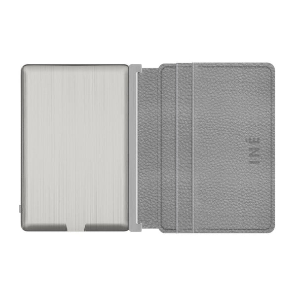 INÉ WALLET X FR-BG <br> WITH BUILT-IN POWERBANK <br> GREY