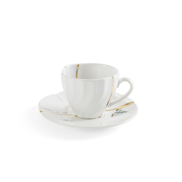 Kintsugi Coffee Cup <br> With Saucer Design 2