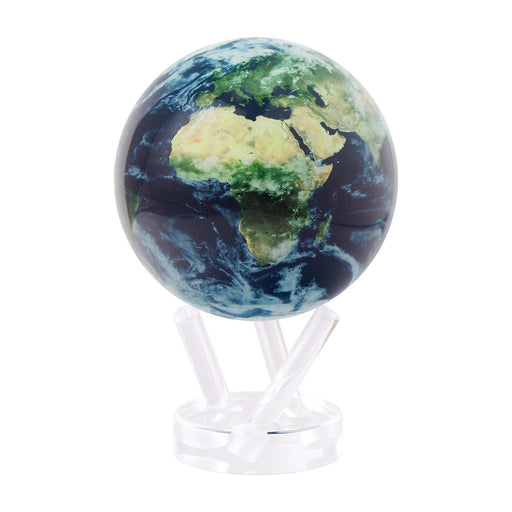 Earth Globe with Clouds <br> Blue <br> (Ø 16 x H 23) cm