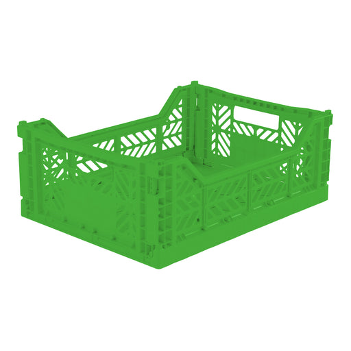 Folding Crate <br> Green <br> (L 40 x W 30 x H 14) cm