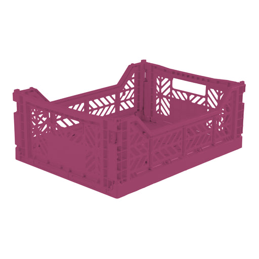 Folding Crate <br> Purple <br> (L 40 x W 30 x H 14) cm