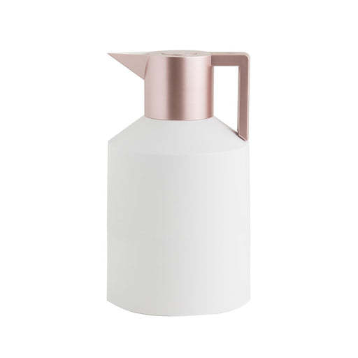 GEO VACUUM JUG <br>WHITE / METALLIC ROSE GOLD