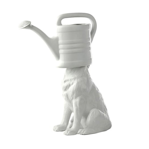 WOLF WATERING CAN <br> WHITE <br> (L 47 x W 22 x H 53) CM