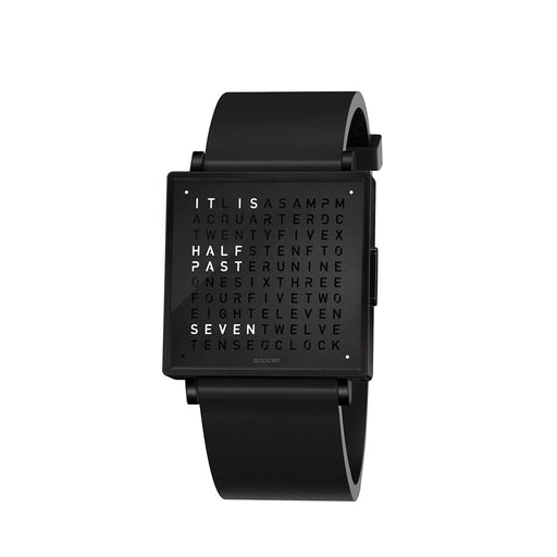 Qlocktwo W35 English <br> Black Rubber Strap