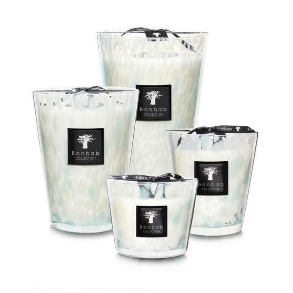 PEARLS SAPPHIRE CANDLE<br> SEAWEED AND MYRTLE<br> (14.5 x 16) CM