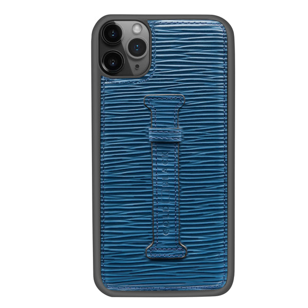 UNICO BLUE <br> IPHONE 11 PRO MAX CASE <br> WITH FINGER HOLDER