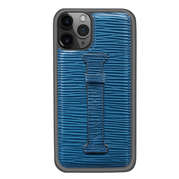 UNICO BLUE <BR> IPHONE 11 PRO CASE <br> WITH FINGER HOLDER
