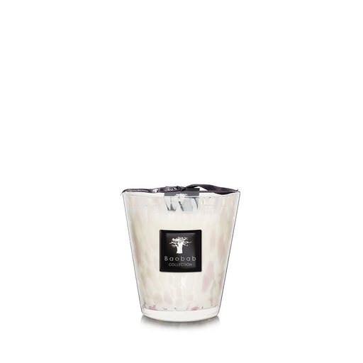 PEARLS WHITE CANDLE <br> MUSK AND JASMINE <br> (14.5 x 16) CM