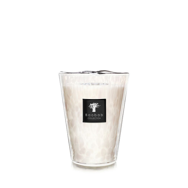 PEARLS WHITE CANDLE <br> MUSK AND JASMINE <br> (18.3 x 24) CM