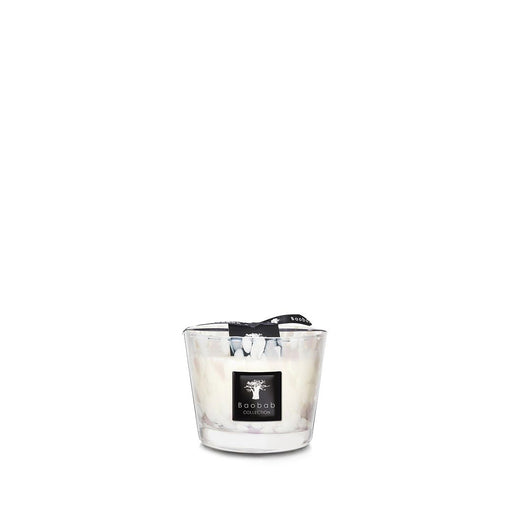 PEARLS WHITE CANDLE <br> MUSK AND JASMINE <br> (12.5 x 10) CM