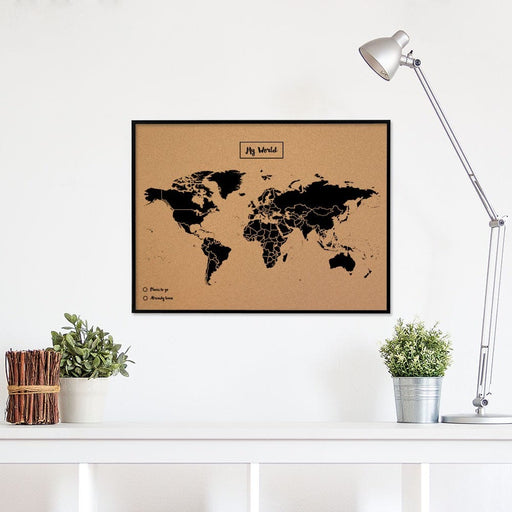 WOODY BLACK FRAMED MAP<br> LARGE