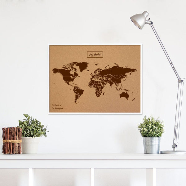 WOODY WHITE FRAMED MAP<br> LARGE